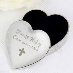 1st Holy Communion Heart Shaped Trinket Box