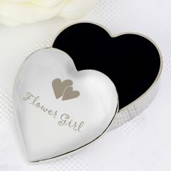 Flower Girl Heart Shaped Trinket Box