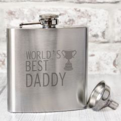 The Worlds Best Daddy Hip Flask