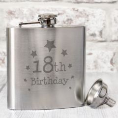 Happy 18th Birthday Hip Flask