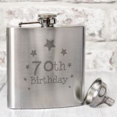 Happy 70th Birthday Hip Flask