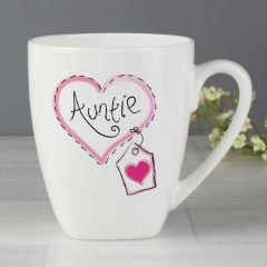 Auntie Heart Stitch Design Latte Mug