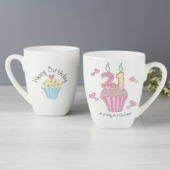 21st Birthday Cupcake Latte Mug