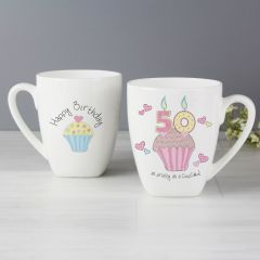 50th Birthday Cupcake Latte Mug