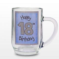 Blue 18th Happy Birthday Tankard