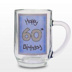 Blue 60th Happy Birthday Tankard