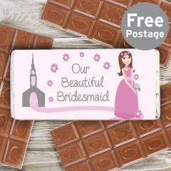 Our Fabulous Bridesmaid Chocolate Bar