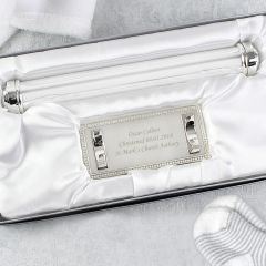 Personalised Silver Plated Plain Certificate Holder