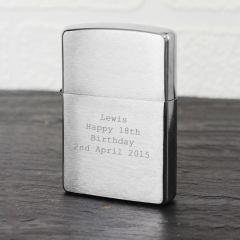 Personalised Chrome Zippo Design Lighter