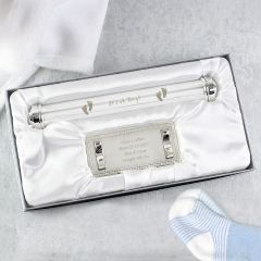 Personalised Silver Plated Its A Boy Certificate Holder