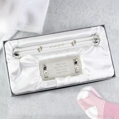 Personalised Silver Plated Its A Girl Certificate Holder