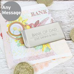 Personalised Classic Design Money Clip