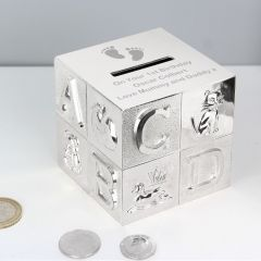 Personalised Footprints ABC Design Money Box