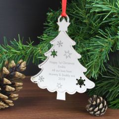 Personalised Any Message Christmas Hanging Tree Decoration