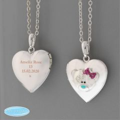 Personalised Message Me To You Silver Tone Heart Locket