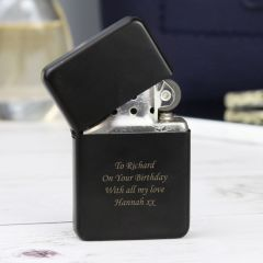 Personalised Black Design Lighter