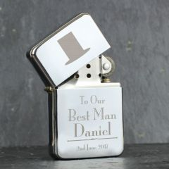Personalised Wedding Design Best Man Lighter