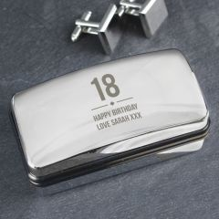 Personalised Birthday Big Age Design Cufflink Box