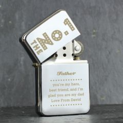 Personalised The No.1 Silver Design Lighter