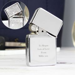 Personalised Any Message Diamante Design Lighter