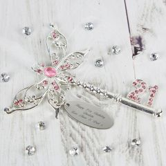 Personalised Pink Butterfly 21st Birthday Key
