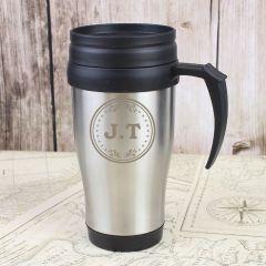 Personalised Monogram Design Travel Mug