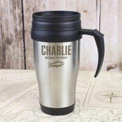 Personalised Fishing Travel Mug