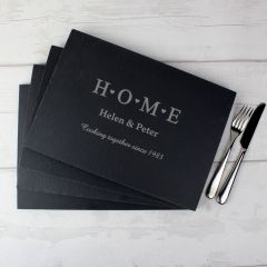 Personalised HOME Slate Rectangle Placemat 4 Pack
