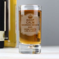 Personalised Keep Calm Bubble Design Shot Glass
