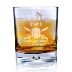 Personalised Captain Tumbler Bubble Bottom Glass