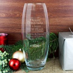 Personalised Christmas Glass Bullet Vase