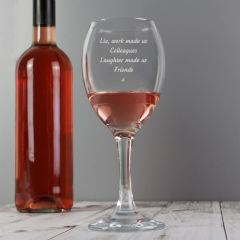 Any Message Personalised Wine Glass
