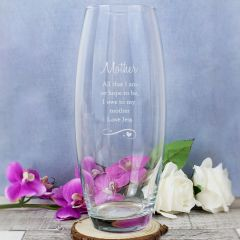 Personalised Swirls & Hearts Design Bullet Vase