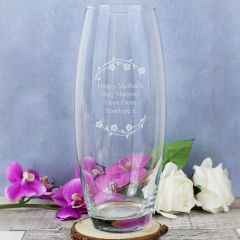 Personalised Floral Glass Bullet Vase