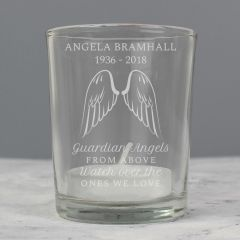 Personalised Guardian Angel Votive Candle Holder