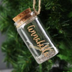 Personalised Gold Any Name Message in a Bottle