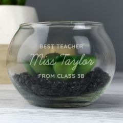 Personalised Add Any Message Glass Terrarium