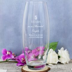 Personalised Anniversary Glass Bullet Vase