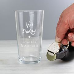 Personalised The No.1 Pint glass & Bottle Opener Set