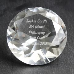 Personalised Diamond Shaped Paperweight