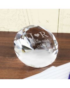 Personalised Initials Diamond Shaped Paperweight