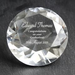 Personalised Special Occasion Diamond Shaped Paperweight