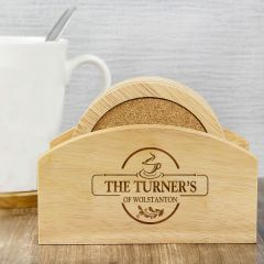 Personalised Full of Love Coaster Set