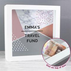 Personalised Geometric Design Fund and Keepsake Box