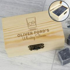 Personalised On The Rocks Design Whisky Stones