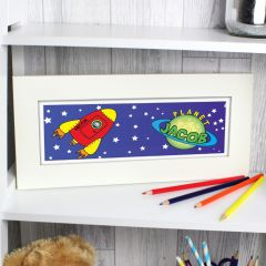 Personalised Space Design Name Frame