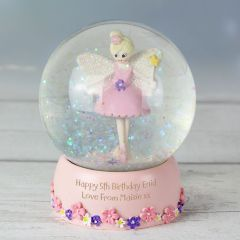 Personalised Fairy Design Glitter Snow Globe