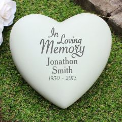 In Loving Memory Personalised Heart Memorial