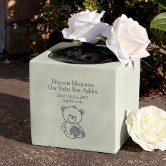 Personalised Teddy Bear Bear Memorial Vase