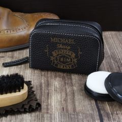 Personalised Vintage Design Typography Shoeshine Kit